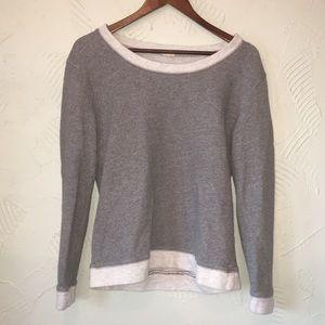 J. Crew Grey Ringer Sweatshirt